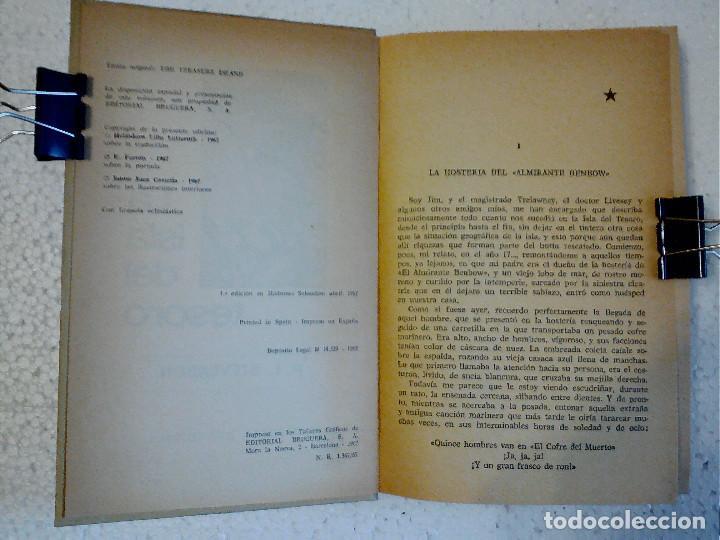Libros antiguos: LA ISLA DEL TESORO DE R.L. STEVENSON EDITORIAL BRUGUERA - Foto 6 - 196980052