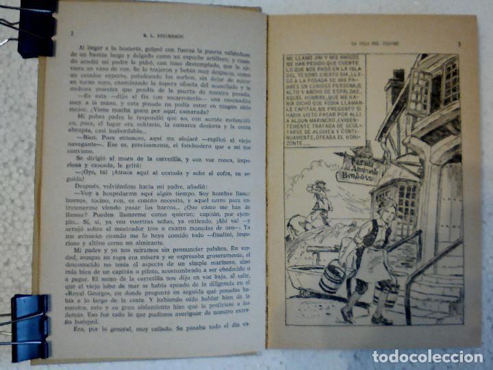 Libros antiguos: LA ISLA DEL TESORO DE R.L. STEVENSON EDITORIAL BRUGUERA - Foto 7 - 196980052