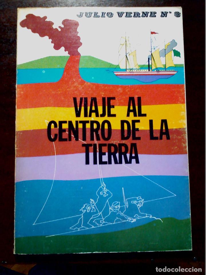 LIBRO ILUSTRADO VIAJE AL CENTRO DE LA TIERRA DE JULIO VERNE AÑOS 70 (Libros Antiguos, Raros y Curiosos - Literatura Infantil y Juvenil - Otros)