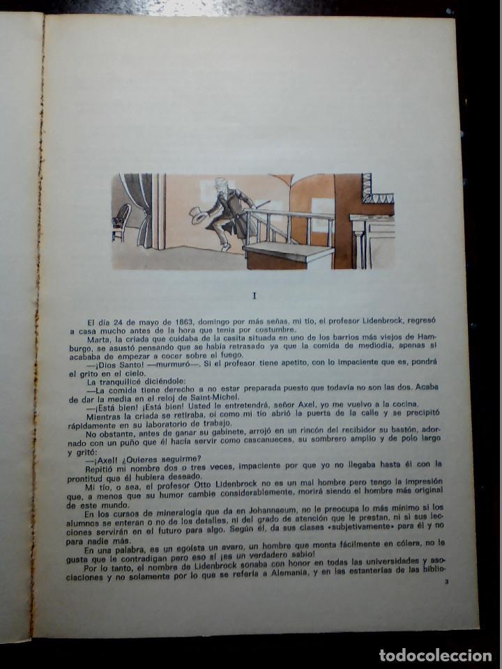 Libros antiguos: LIBRO ILUSTRADO VIAJE AL CENTRO DE LA TIERRA DE JULIO VERNE AÑOS 70 - Foto 5 - 196981201