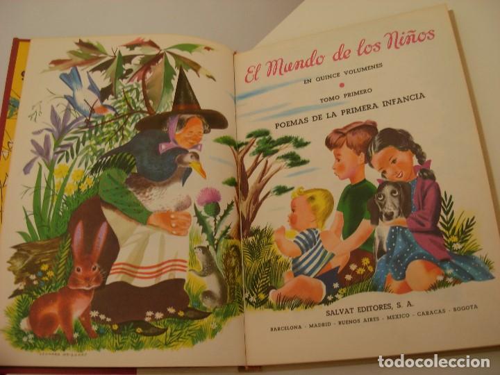Libros antiguos: Poemas de la primera infancia Salvat 1967 El mundo de los niños - Foto 6 - 222542238