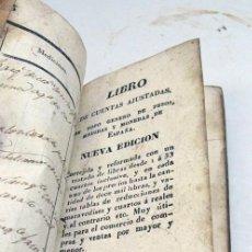 Libros antiguos: LIBRO DE CUENTAS AJUSTADAS EN..DE PESOS, MEDIDAS + LIBRO QUE DEM.. EL IM DE LIBRAS. VALLADOLID.1844. Lote 197128425