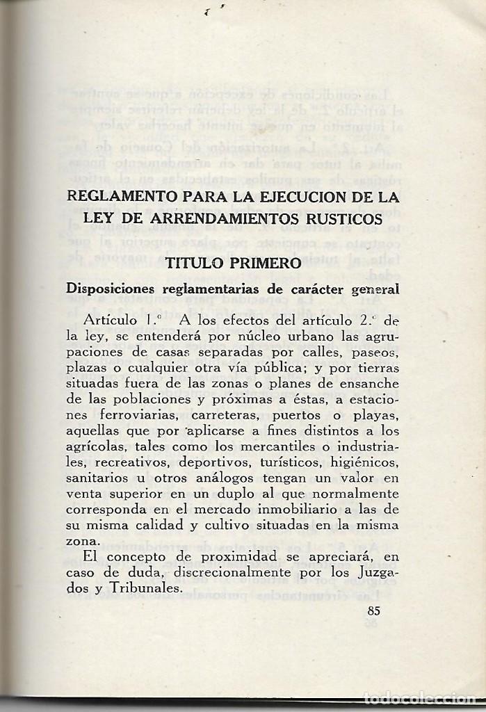 Libros antiguos: LIBRITO LEY DE ARRENDAMIENTOS - AÑO 1940 - LEGISLACION DEL NUEVO ESTADO - Foto 2 - 197131876