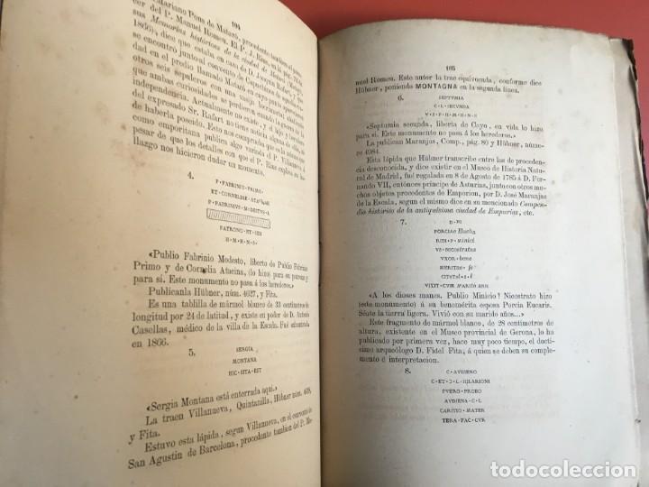 Libros antiguos: NOTICIA HISTÓRICA Y ARQUEOLÓGICA DE LA ANTIGUA CIUDAD DE EMPORION - JOAQUIN BOTET Y SISÓ - 1879 - Foto 8 - 197275837