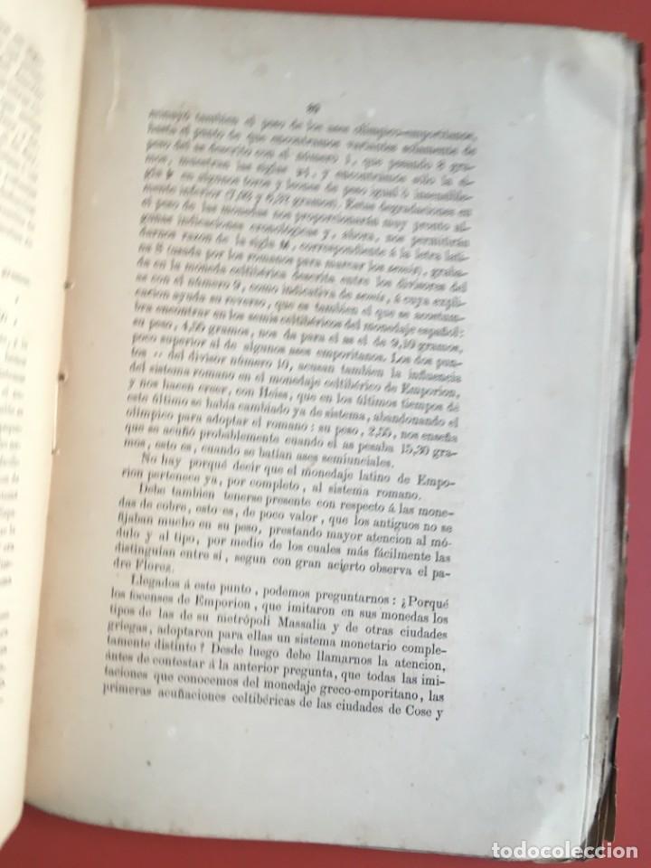 Libros antiguos: NOTICIA HISTÓRICA Y ARQUEOLÓGICA DE LA ANTIGUA CIUDAD DE EMPORION - JOAQUIN BOTET Y SISÓ - 1879 - Foto 11 - 197275837