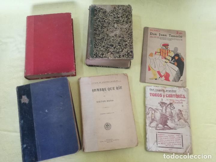 LOTE DE 6 ANTIGUOS LIBROS, DE PRINCIPIOS S. XX, A CLASIFICAR (Libros Antiguos, Raros y Curiosos - Literatura - Otros)