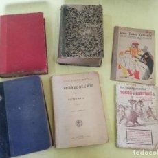 Livres anciens: LOTE DE 6 ANTIGUOS LIBROS, DE PRINCIPIOS S. XX, A CLASIFICAR. Lote 197278610