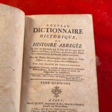Libros antiguos: NOUVEAU DICTIONNAIRE HISTORIQUE TOMOS 3 Y 4. Lote 197384183