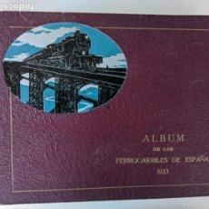 Libros antiguos: 1923 ALBUM DE LOS FERROCARRILES DE ESPAÑA - IMPECABLE. Lote 197397346