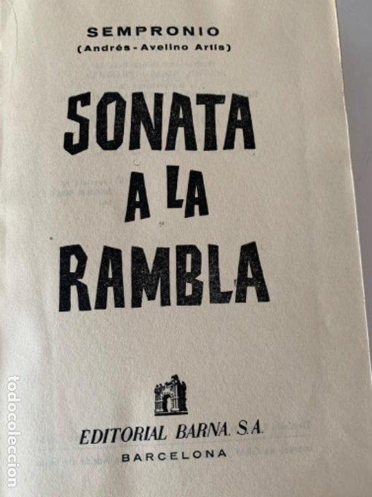 SONATA A LA RAMBLA DE SEMPRONIO,(ANDRÉS-AVELINO ARTÍS) (Libros antiguos (hasta 1936), raros y curiosos - Literatura - Narrativa - Otros)