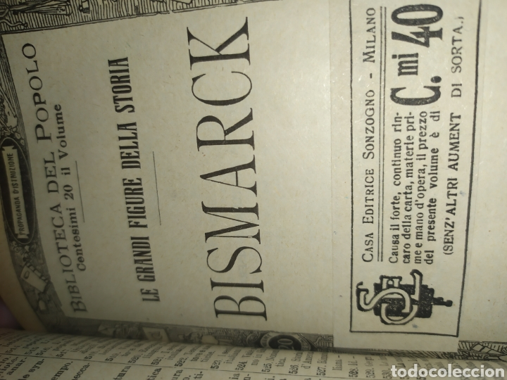 Libros antiguos: Publicaciones Sonzogno encuadernadas - Biblioteca del Popolo - Foto 4 - 197528776