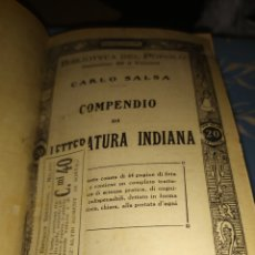 Libros antiguos: PUBLICACIONES SONZOGNO ENCUADERNADAS - BIBLIOTECA DEL POPOLO. Lote 197528776
