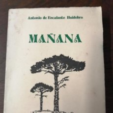 Libros antiguos: MAÑANA. ANTONIO DE ESCALANTE HUIDOBRO. Lote 197662435