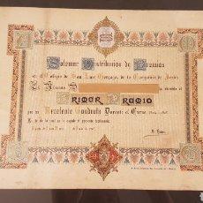Libros antiguos: SOLEMNE DISTRIBUCIÓN DE PREMIOS COLEGIO SAN LUIS GONZAGA DE LA COMPAÑIA DE JESÚS. AÑO 1904/ 05.. Lote 197708865