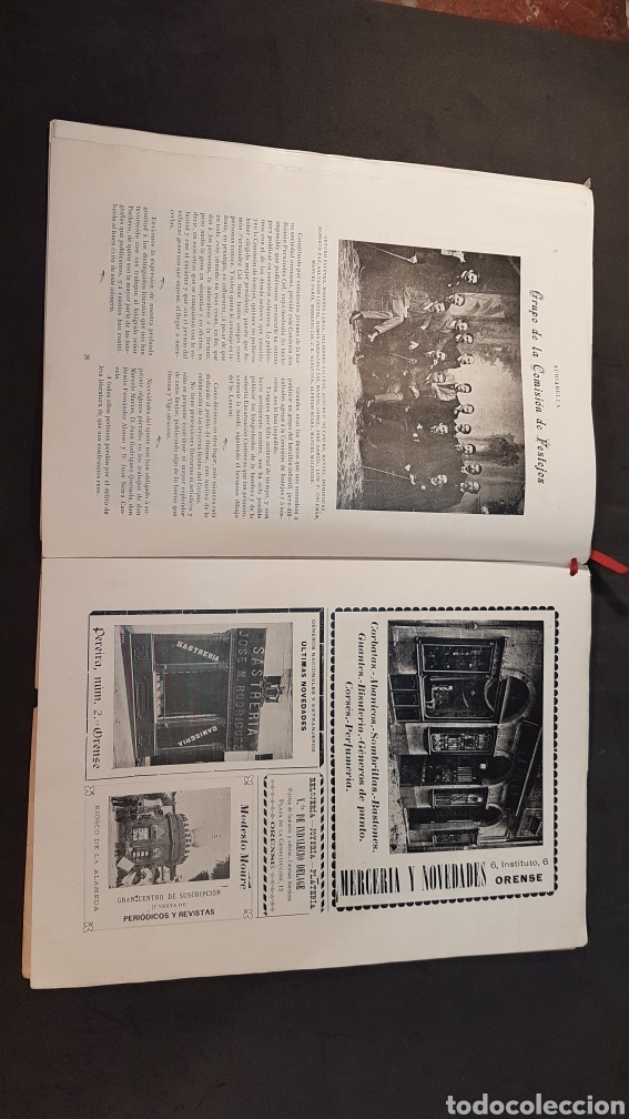 Libros antiguos: REVISTA AURIABELLA, DEDICADO AL PUEBLO DE OURENSE CON MOTIVO DE LAS FIESTAS DEL CORPUS 1903. - Foto 14 - 197916795