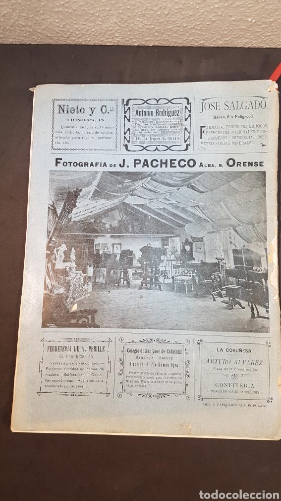 Libros antiguos: REVISTA AURIABELLA, DEDICADO AL PUEBLO DE OURENSE CON MOTIVO DE LAS FIESTAS DEL CORPUS 1903. - Foto 18 - 197916795