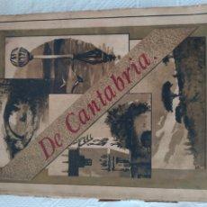 Libros antiguos: DE CANTABRIA. LETRAS, ARTES, HISTORIA.... Lote 197974425