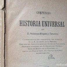 Libros antiguos: COMPENDIO HISTORIA UNIVERSAL POLICARPO MINGOTE 5ª EDICIÓN 1906. Lote 198110460