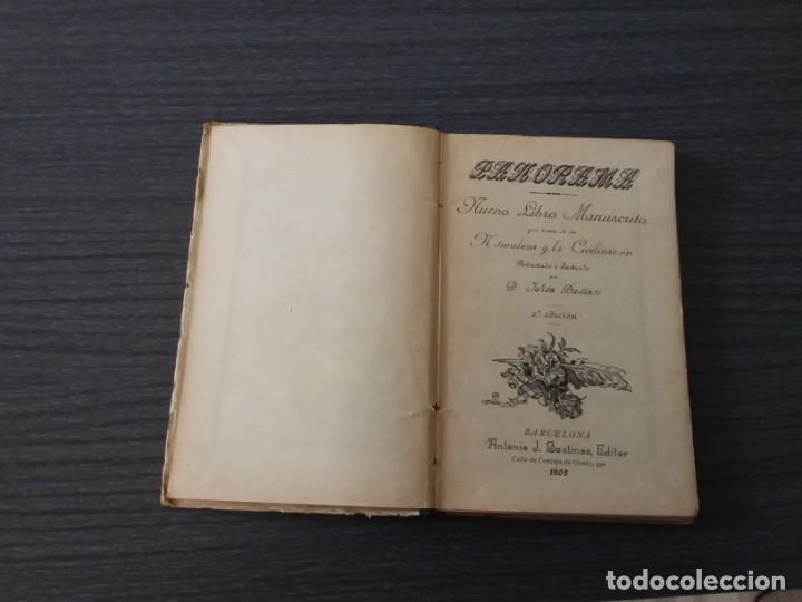 Libros antiguos: PANORAMA, LA NATURALEZA, POR JULIÁN BASTINOS - Foto 3 - 198184317