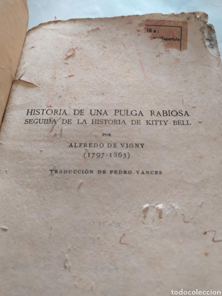 Libros antiguos: La pulga rabiosa de alfredo vigny 1797-1863 - Foto 3 - 198229655