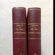 Libros antiguos: EL MAL HEREDITARIO EN LA HISTORIA - DR. CABANÈS - EDICIONES MERCURIO 1927.. Lote 198235550