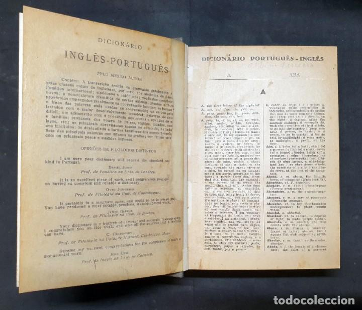 Libros antiguos: DICIONÁRIO PORTUGUÉS -INGLES - Foto 5 - 198380772
