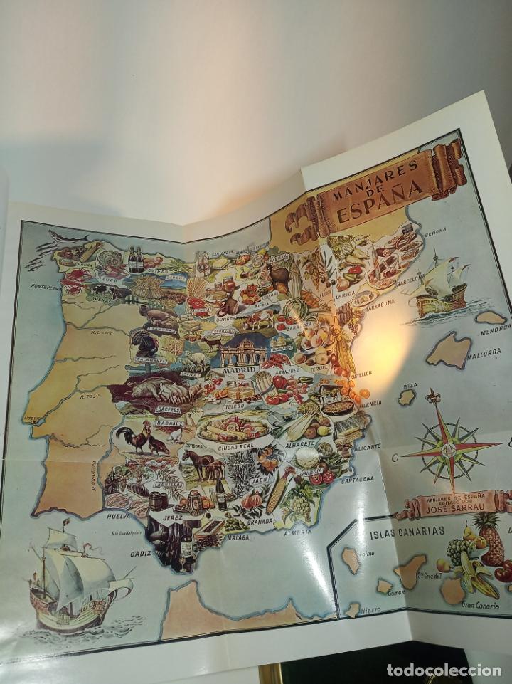 Libros antiguos: Gran libro. Nuestra cocina. José Sarrau. Prensa Española. Madrid. Firmado y dedicado.1977. - Foto 4 - 198406178