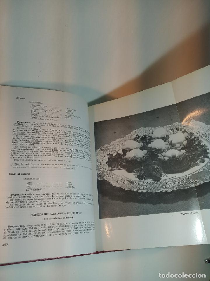 Libros antiguos: Gran libro. Nuestra cocina. José Sarrau. Prensa Española. Madrid. Firmado y dedicado.1977. - Foto 9 - 198406178