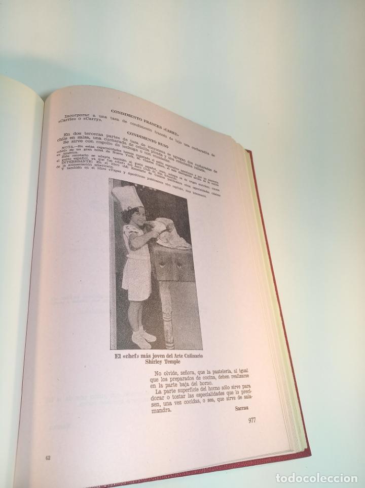 Libros antiguos: Gran libro. Nuestra cocina. José Sarrau. Prensa Española. Madrid. Firmado y dedicado.1977. - Foto 10 - 198406178