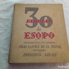 Libros antiguos: 30 FÁBULAS DE ESOPO. Lote 198407963