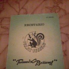 Libros antiguos: RECETARIO TURMIX BERRENS 19 EDICIÓN. Lote 198564696