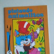Libros antiguos: CUADERNO PINTANDO ANIMALITOS NO. 5 (ÁLBUM PARA COLOREAR SUSAETA). 1985. Lote 198604755