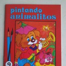 Libros antiguos: CUADERNO PINTANDO ANIMALITOS NO. 9 (ÁLBUM PARA COLOREAR SUSAETA). 1985. Lote 198605233