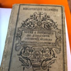 Libros antiguos: BIBLIOTHEQUE TECHNIQUE DE L,INGENIEUR PARIS 1900 , 1500 PAGINAS , ILUSTRACIONES, . Lote 198619752