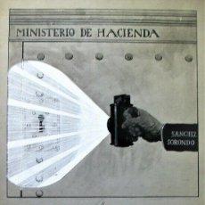 Libros antiguos: ALEJANDRO SIRIO MINISTERIO DE HACIENDA - TINTA ORIGINAL - 1921 FIRMADO. Lote 198664753
