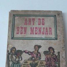 Livros antigos: ART DE BEN MENJAR LLIBRE CUINA CATALANA CABANÉ. Lote 198807272