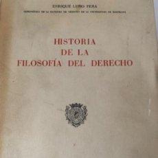 Libros antiguos: HISTORIA DE LA FILOSOFÍA DEL DERECHO. Lote 198823211
