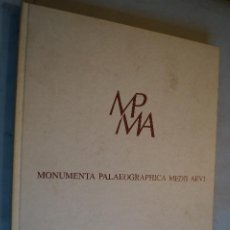 Libros antiguos: MONUMENTA PALAEOGRAPHICA MEDII AEVI. VV.AA. Lote 198902771
