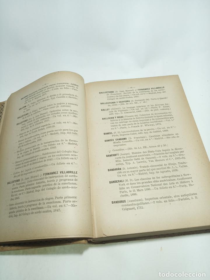 Libros antiguos: Catálogo de la biblioteca del senado. Autores y anónimos. 3 tomos. Madrid. 1888.Imprenta de los hijo - Foto 3 - 199069900