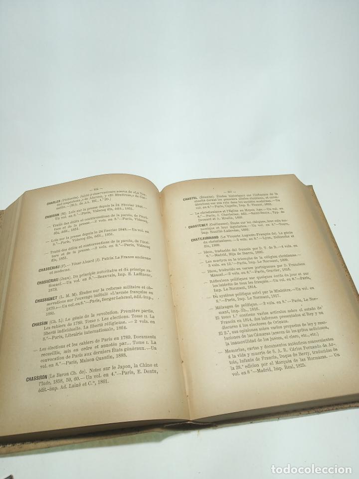Libros antiguos: Catálogo de la biblioteca del senado. Autores y anónimos. 3 tomos. Madrid. 1888.Imprenta de los hijo - Foto 4 - 199069900