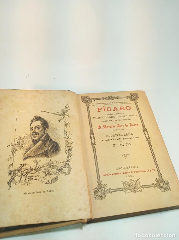 Libros antiguos: Fígaro. Colección de artículos filosóficos, satíricos, literarios y políticos. D. Mariano José de La - Foto 2 - 199071995
