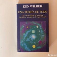 Libros antiguos: UNA TEORÍA DE TODO. KEN WILBER. EDITORIAL KAIRÓS.. Lote 199121151