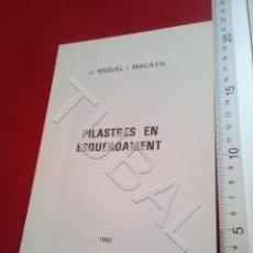 Libros antiguos: TUBAL VICH JOSEP MIQUEL I MACAYA PILASTRES EN ESQUERDAMENT 1982 DIPTICO U24. Lote 199208377
