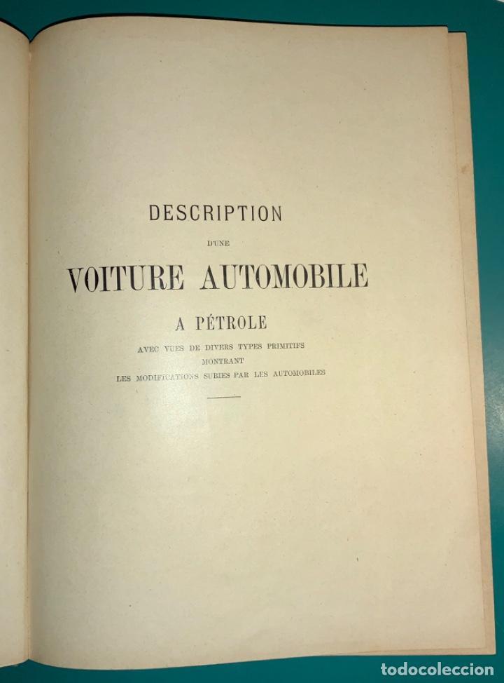 Libros antiguos: PRECIOSO LIBRO LE MECANICIEN MODERNE PRINCIPIO SIGLO XX PRIMER CAPITULO DEDICADO AL AUTOMÓVIL - Foto 4 - 199514513