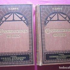 Libros antiguos: TRATADO DE CONSTRUCCIONES CIVILES. COMPLETA 1926. 1025 FIGURAS. Lote 199719292