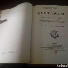 Libros antiguos: MONUMENTOS E LENDAS DE SANTAREM ZEPHYRINO BRANDÃO PORTUGAL PORTUGUÉS. Lote 199844040