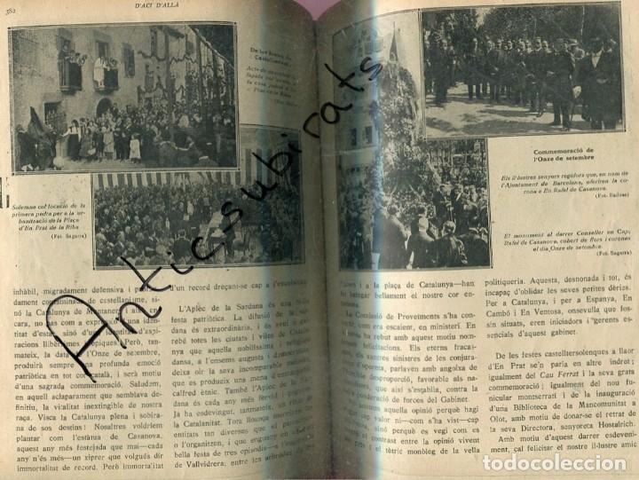 REVISTA ANY 1918 CATALANISME DIADA 11 SETEMBRE DE 1714 CASTELLTERSOL CASANOVA TREN LES PLANES RUBI (Libros Antiguos, Raros y Curiosos - Otros Idiomas)