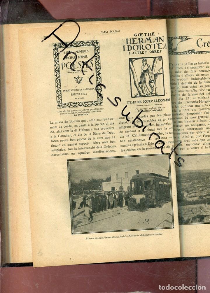 Libros antiguos: REVISTA ANY 1918 CATALANISME DIADA 11 SETEMBRE DE 1714 CASTELLTERSOL CASANOVA TREN LES PLANES RUBI - Foto 2 - 199911051