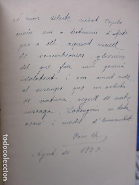 Libros antiguos: EL TENOR, POR FRANCESC VIÑAS. - Lleva una dedicatoria y firmada por Pere V. / ejemplar nº 54. - Foto 5 - 200088528