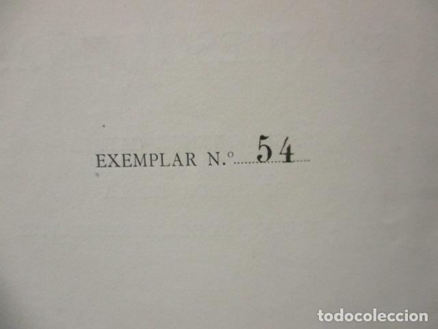 Libros antiguos: EL TENOR, POR FRANCESC VIÑAS. - Lleva una dedicatoria y firmada por Pere V. / ejemplar nº 54. - Foto 10 - 200088528